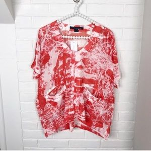 {French Connection} NWT Sheer Flowy Blouse